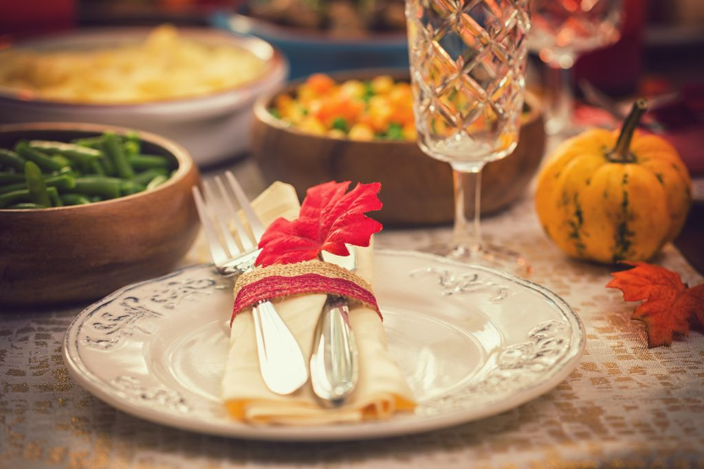 Festive Place Setting with Autumn Decorations