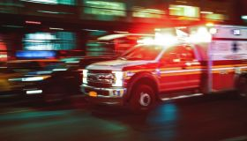 Motion blur ambulance United States
