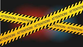 Attention!!! Warning tape!