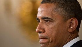 US President Barack Obama makes a statem