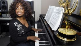 Katreese Barnes tickles the ivories in her E. 90th St. apart