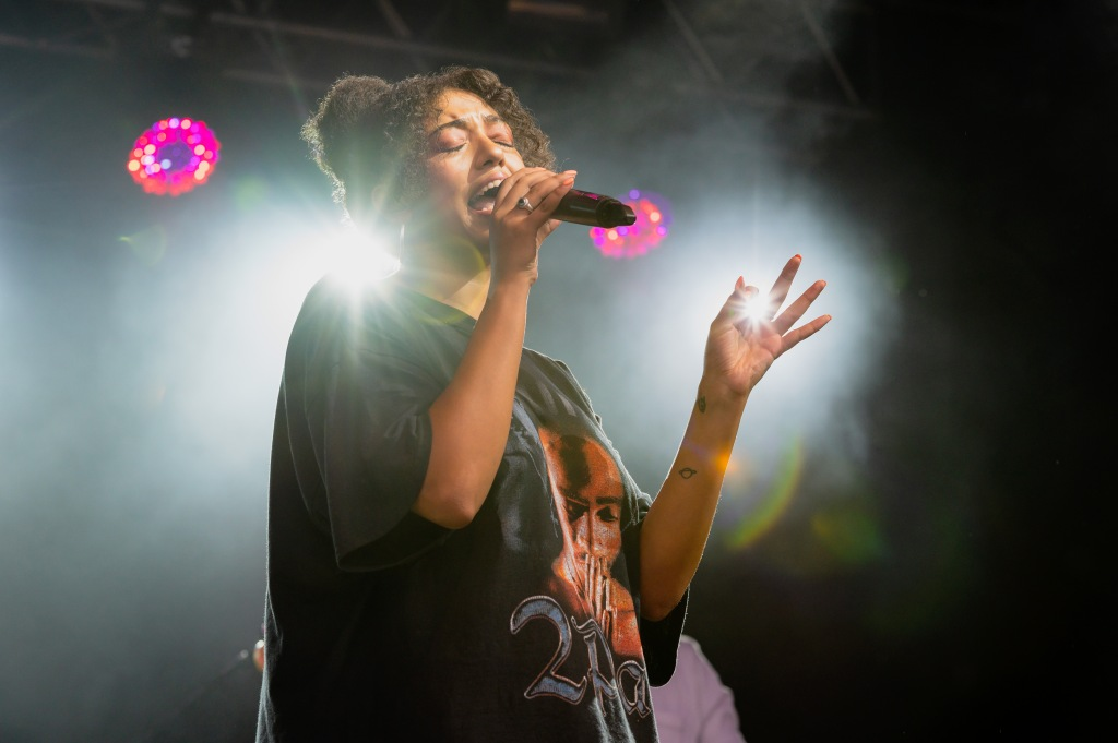 Leicester singer Mahalia performs live on the main stage on day 2 of Standon Calling 2019.