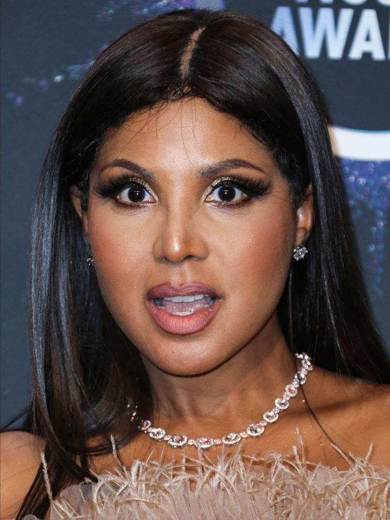 Singer Toni Braxton poses in the press room at the 2019 American Music Awards held at Microsoft Theatre L.A. Live on November 24, 2019 in Los Angeles, California, United States.
