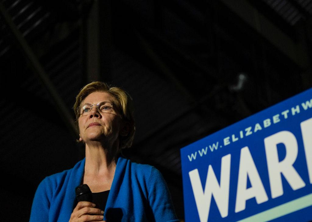 Elizabeth Warren Campaigns in Detriot, US