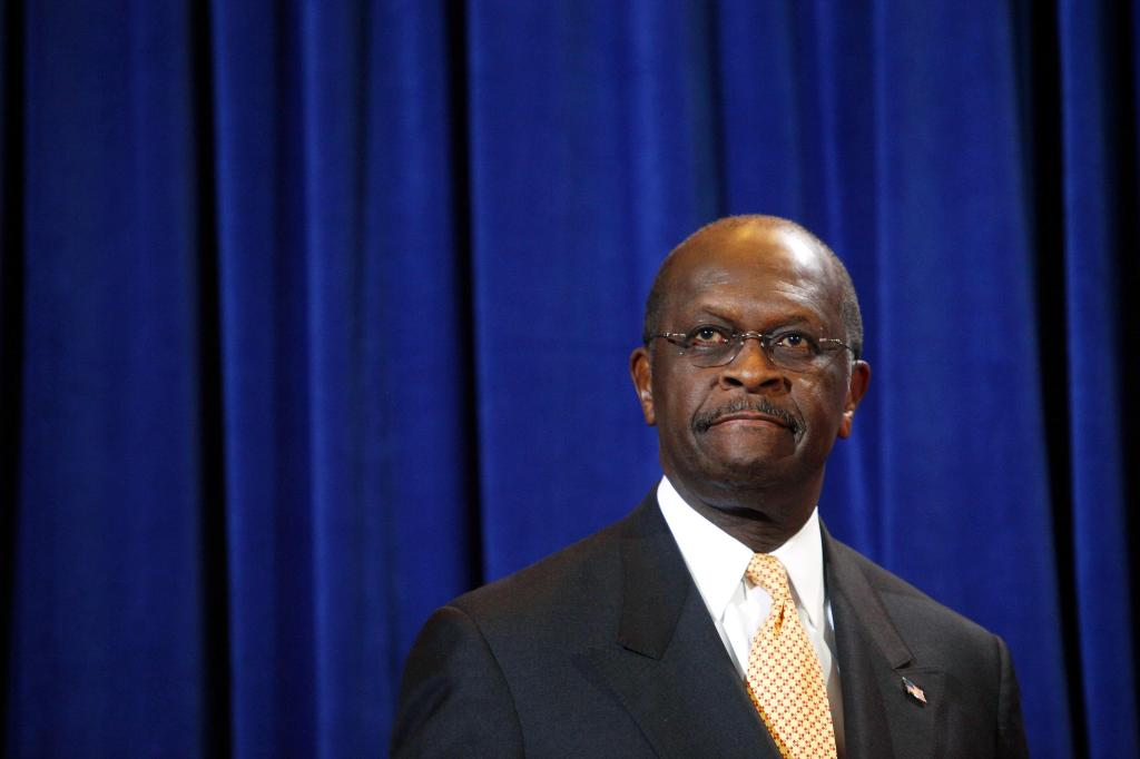 Herman Cain Holds News Conference In Scottsdale