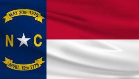 North Carolina Waving Flag