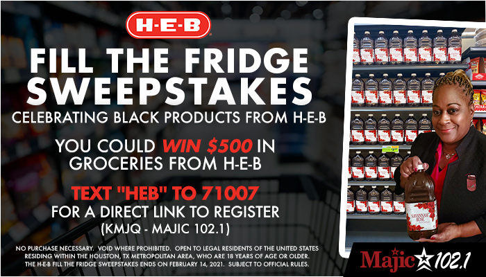 H-E-B Fill The Fridge Sweepstakes (KMJQ)