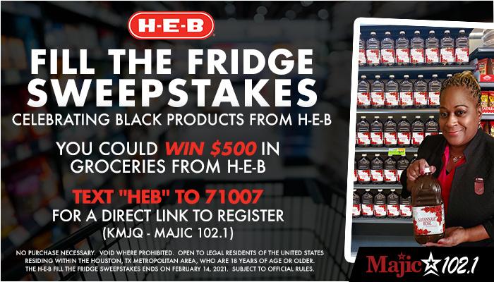 H-E-B Fill The Fridge Sweepstakes (KMJQ)