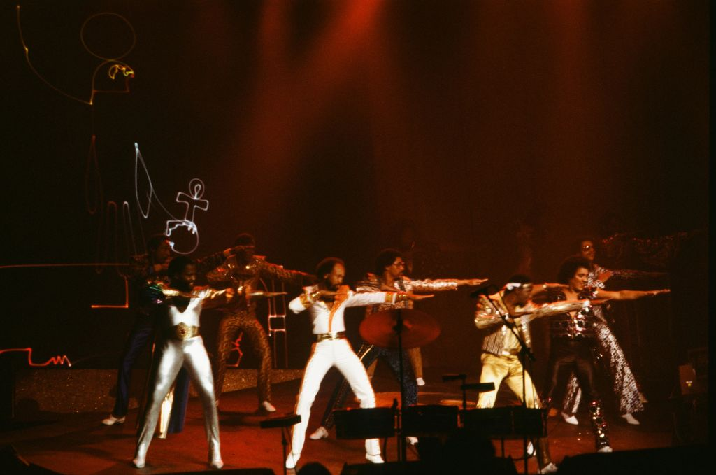 Earth Wind And Fire On Stage In New York 1981