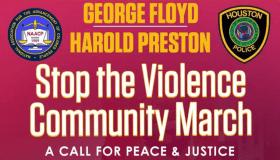 George Floyd Harold Preston Stop The Violence Rally Flyer New